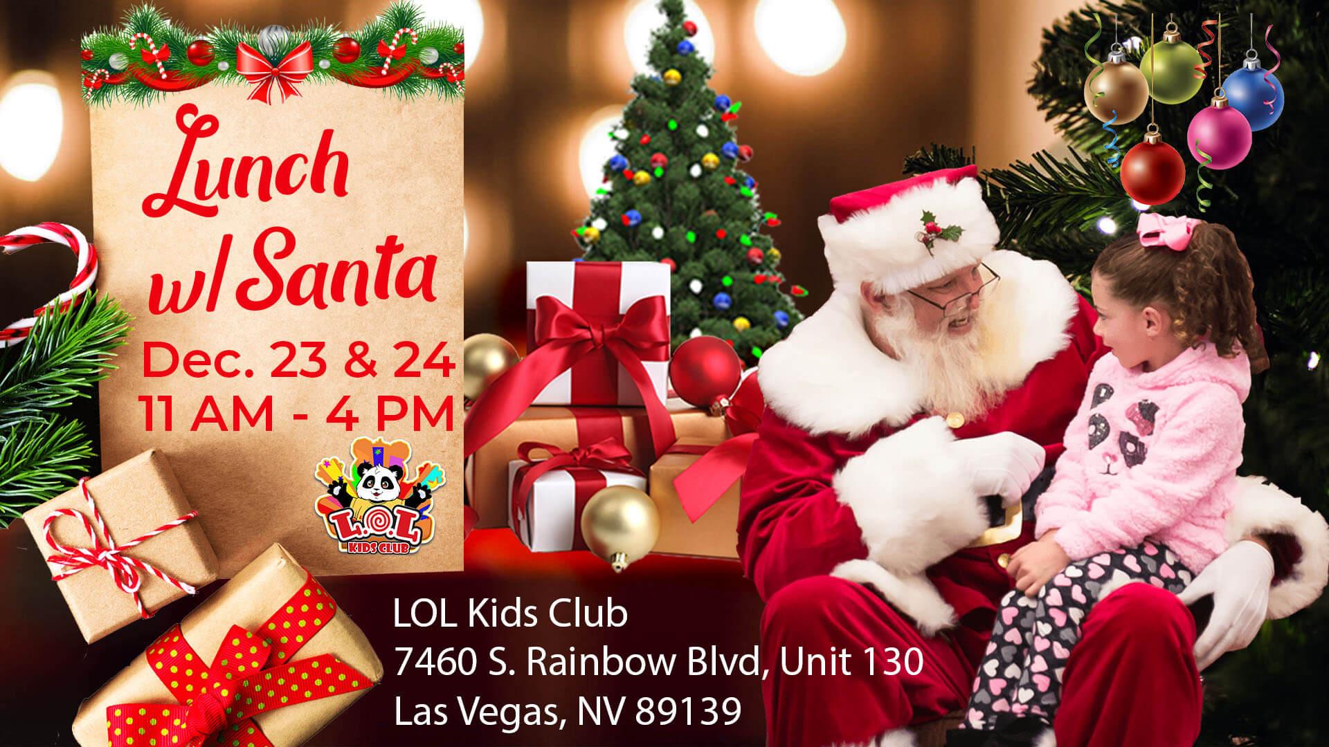 Santa Claus at LOL Kids Club Las Vegas